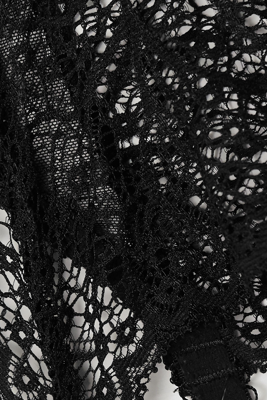 Journelle Allegra stretch-lace and tulle suspender belt