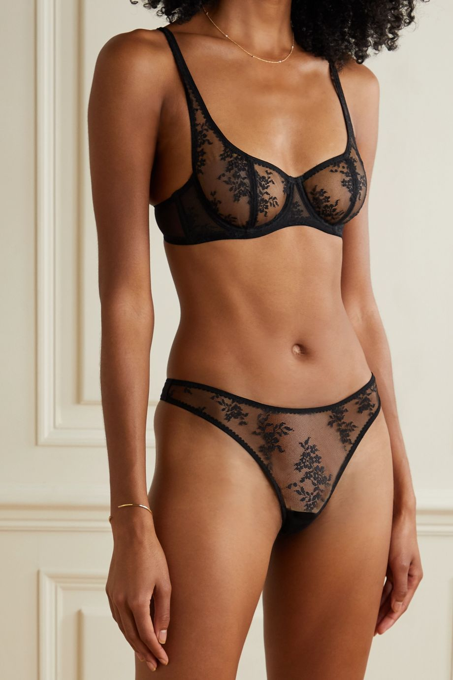 Journelle Romy lace and tulle thong