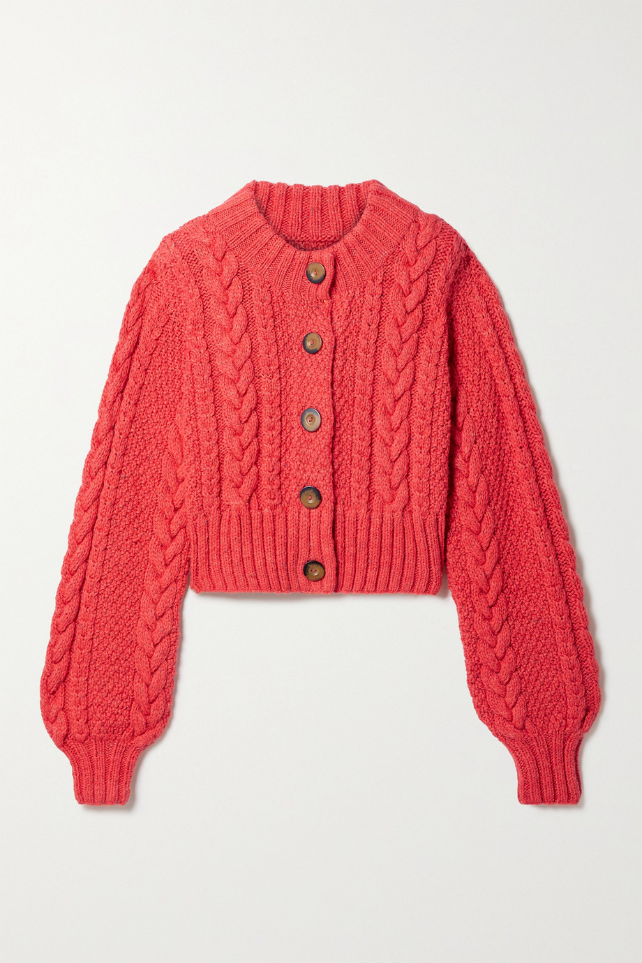 DÔEN Hemione cropped cable-knit alpaca-blend cardigan