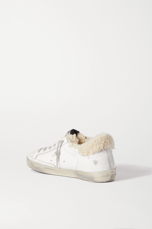 Golden Goose Baskets en cuir, daim et peau lainée effet vieilli Superstar