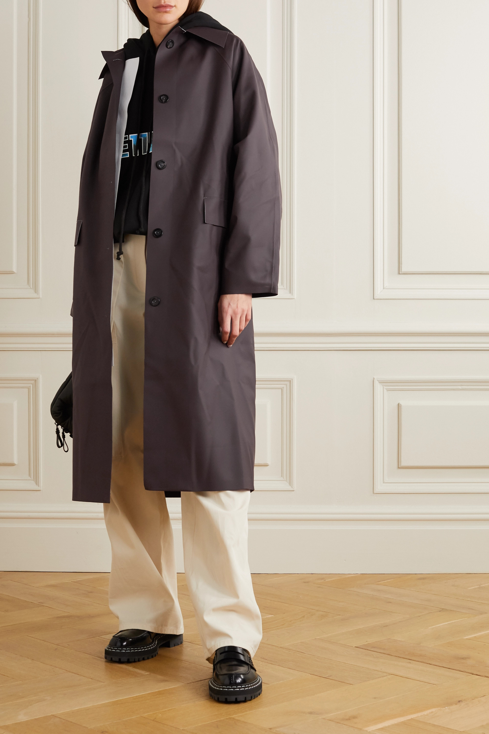 Kassl Editions Rubber trench coat