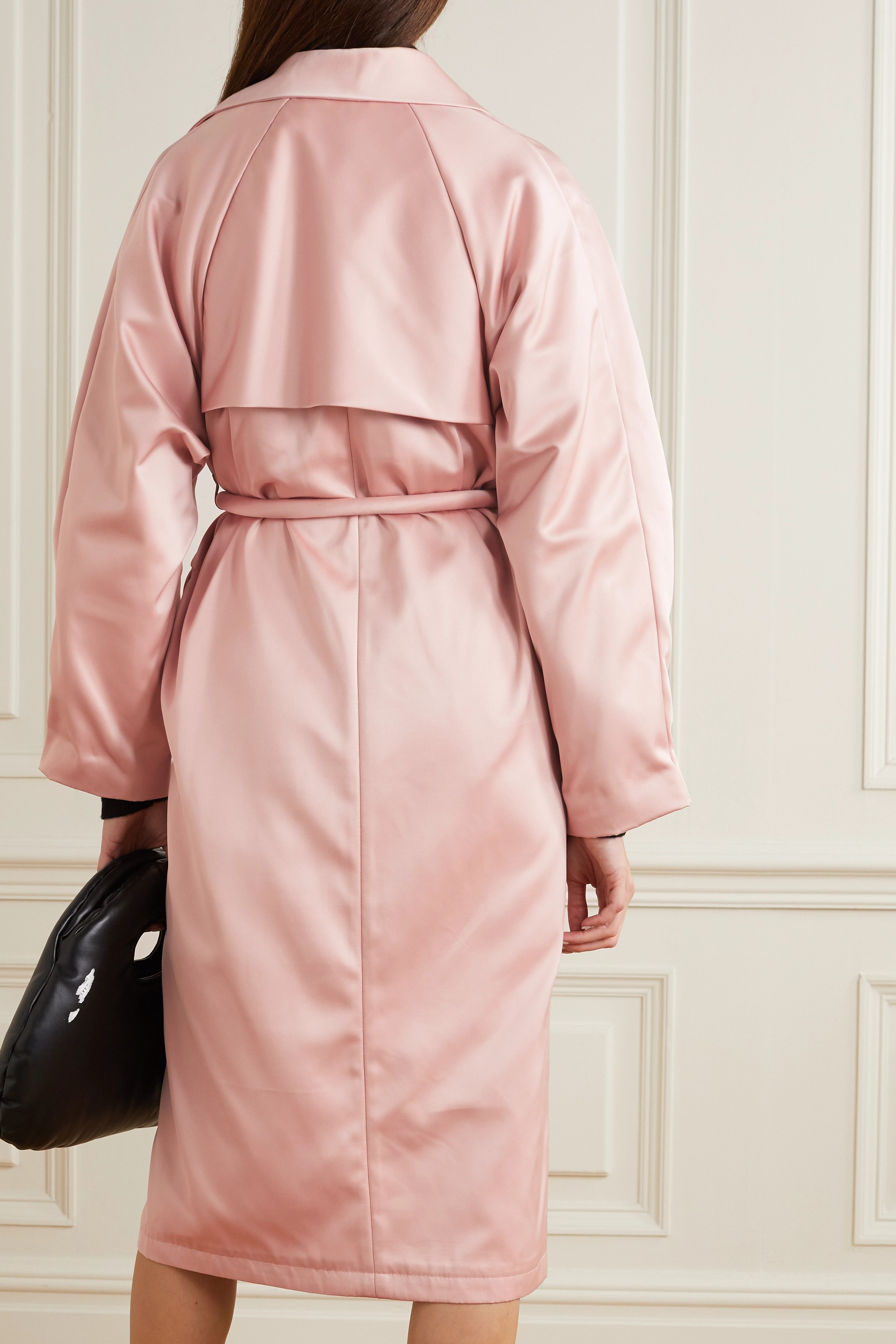 Kassl Editions Satin belted trench coat