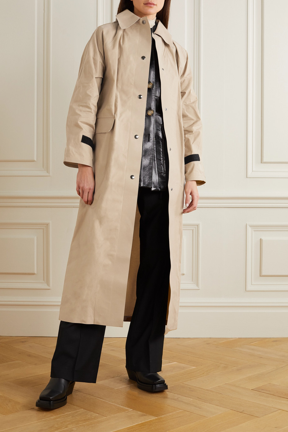 Kassl Editions Original coated-cotton trench coat
