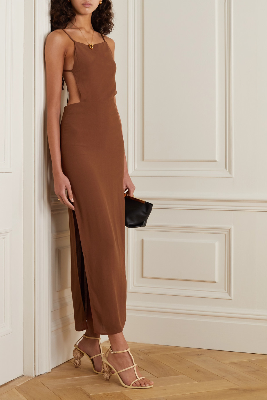 Reformation Houston open-back crepe maxi dress