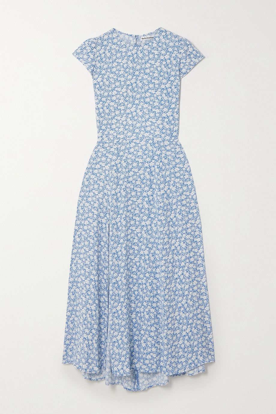 Reformation Gavin open-back floral-print crepe midi dress