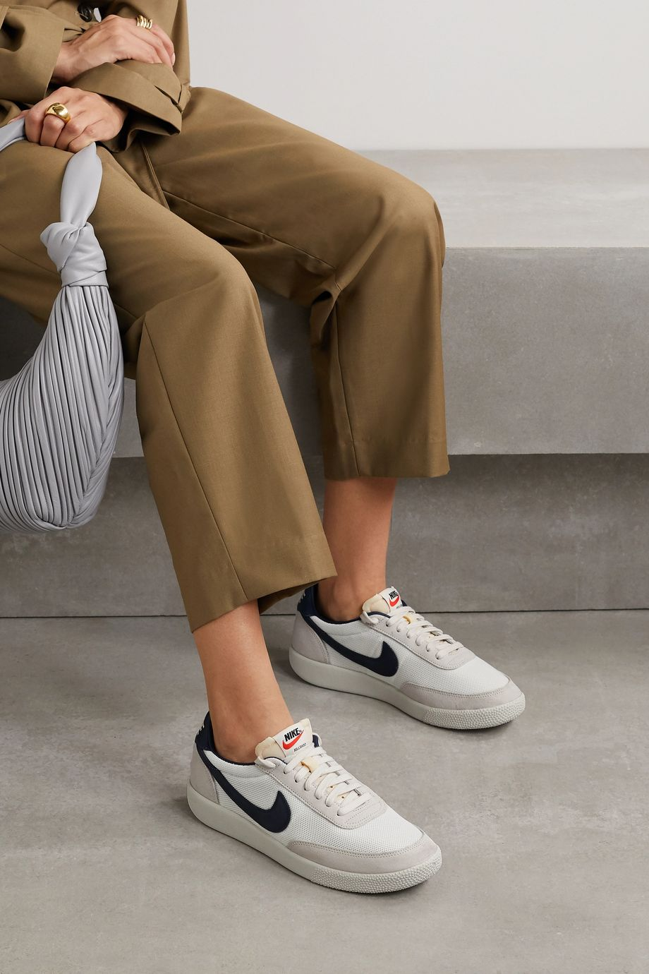 Nike Killshot OG SP mesh, leather and suede sneakers
