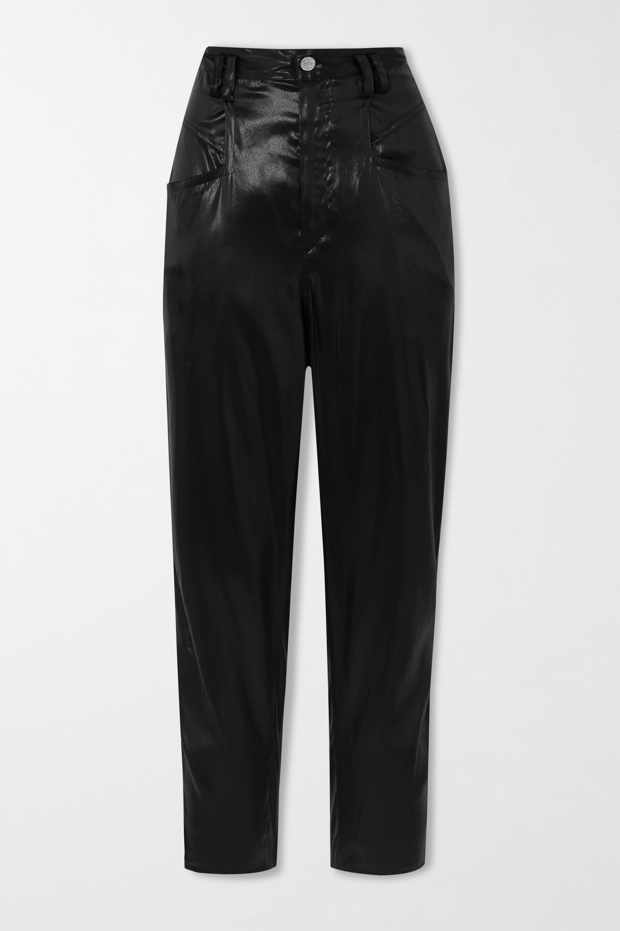 Isabel Marant Oversized silk-satin tapered pants