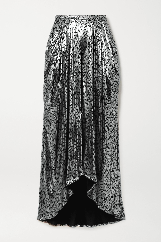 Isabel Marant Draped lamé midi skirt