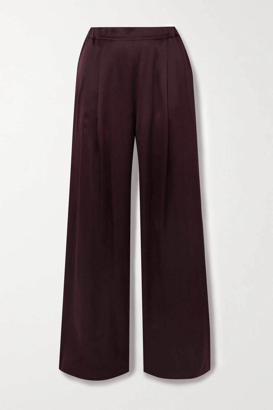 Carine Gilson Silk-satin pajama pants