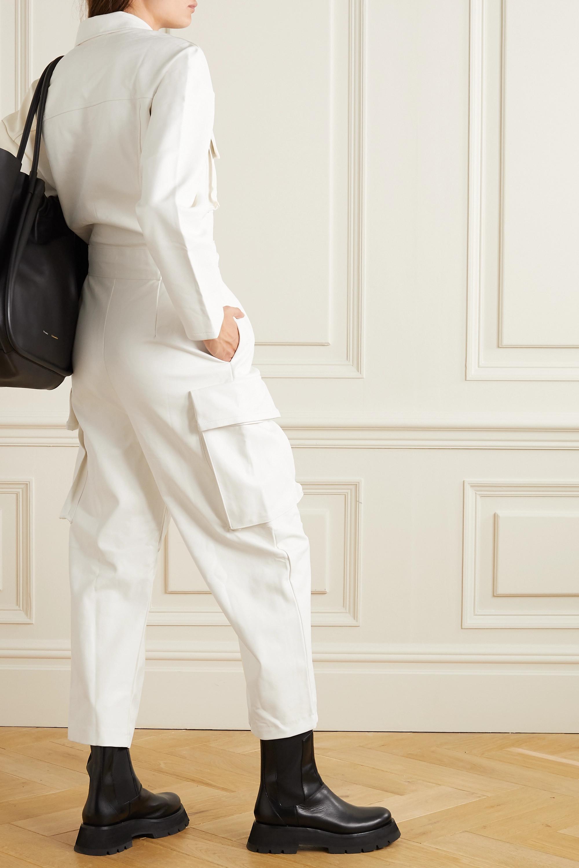 Frankie Shop Linda belted faux leather jumpsuit