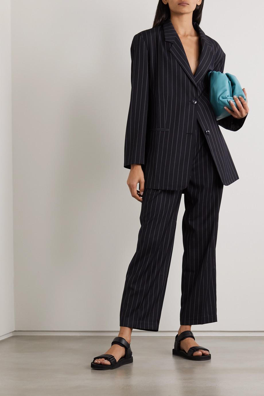 Frankie Shop Pernille oversized striped woven blazer