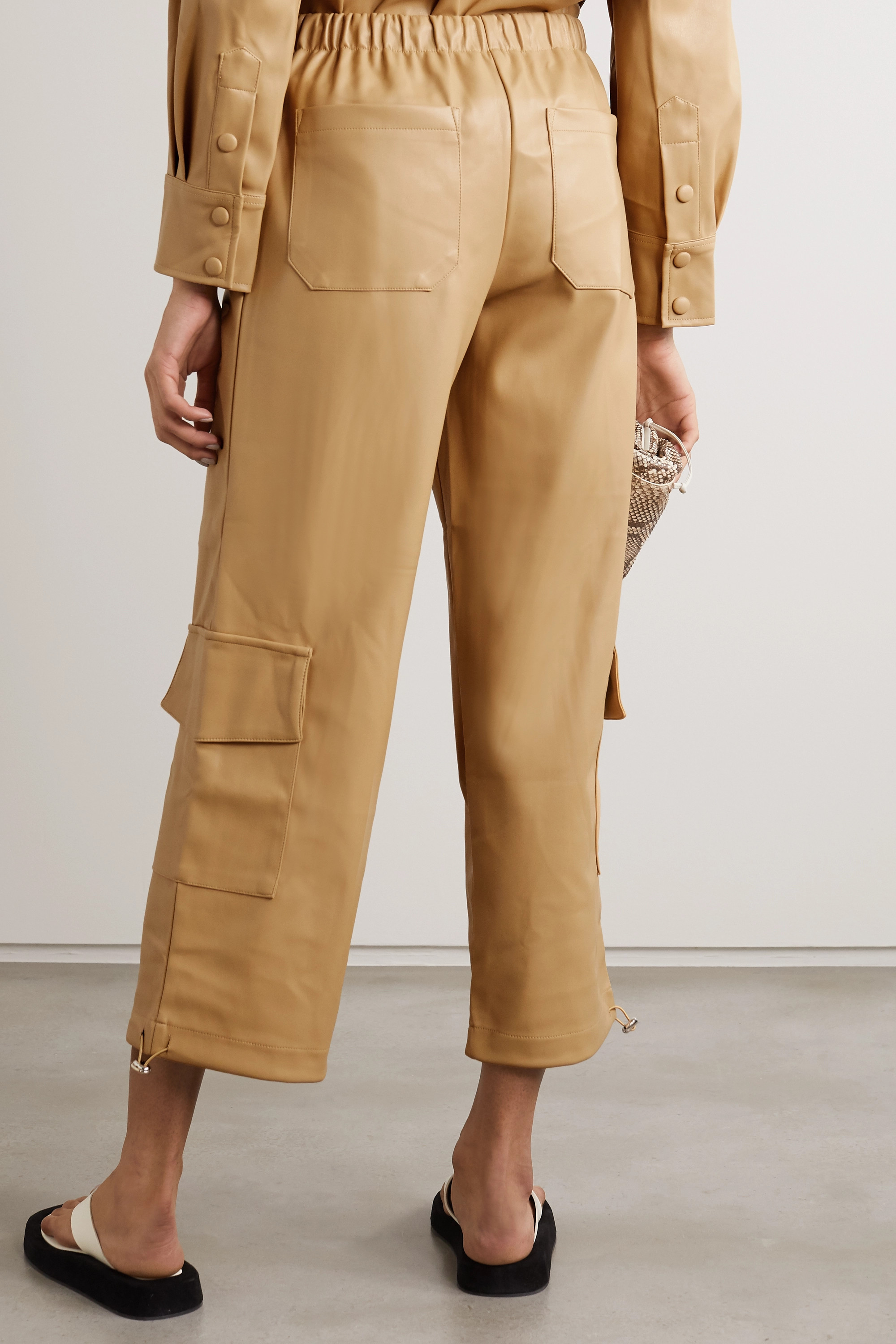 Frankie Shop Yoyo faux leather tapered pants