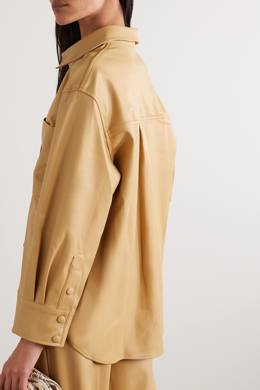 Frankie Shop Yoyo oversized faux leather shirt
