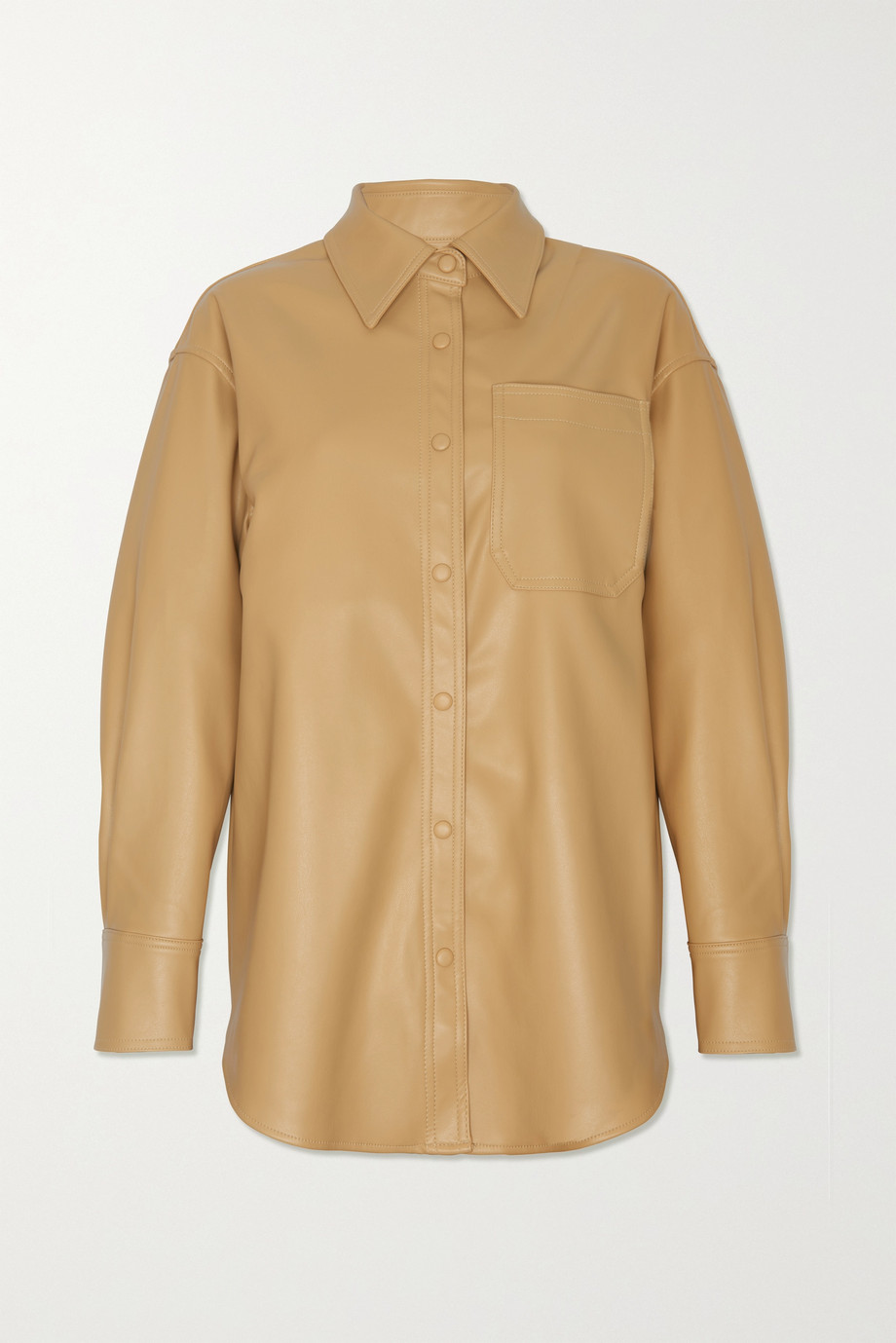 Frankie Shop Yoyo oversized faux leather shirt