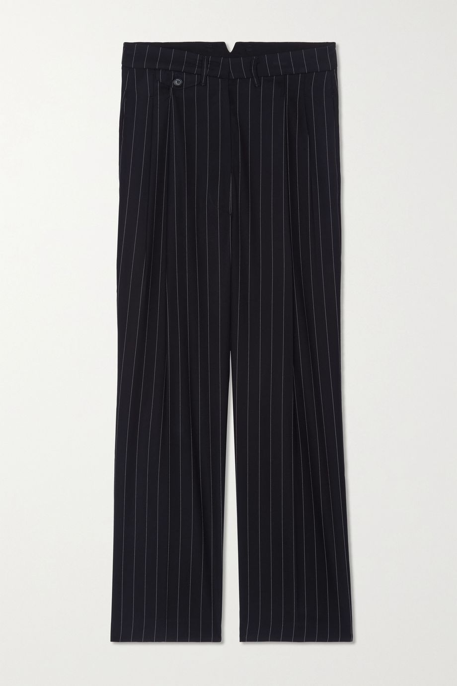 Frankie Shop Pernille striped woven straight-leg pants