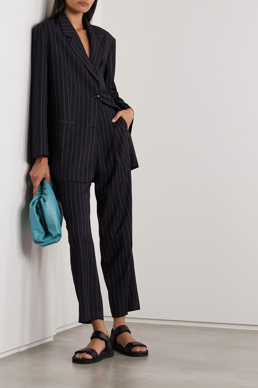 Frankie Shop Pernille Hose mit geradem Bein aus gestreiftem Webstoff