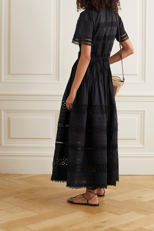 WAIMARI Camilla Maxikleid aus Baumwolle mit Besätzen aus Guipure-Spitze