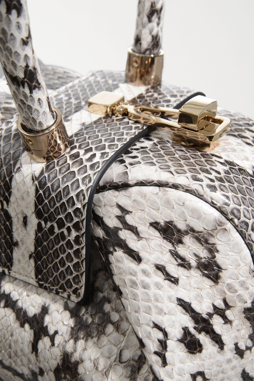 Gabriela Hearst Demi mini Tote aus Wasserschlangenleder