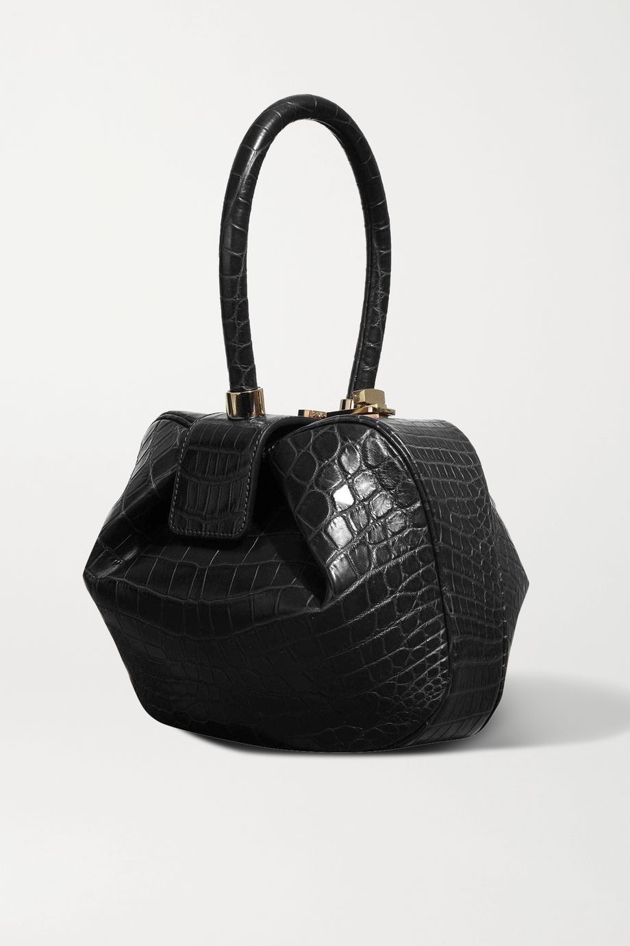 Gabriela Hearst Sac à main en crocodile Demi Mini