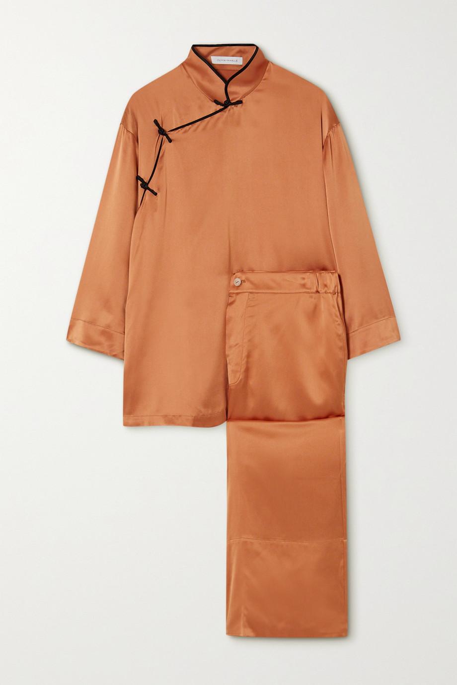 Olivia von Halle Harlow silk-satin pajama set