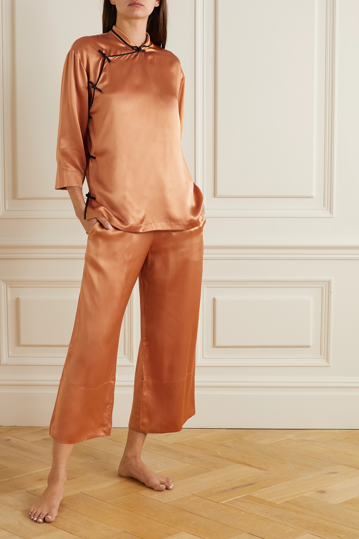 Olivia von Halle Harlow Pyjama aus Seidensatin