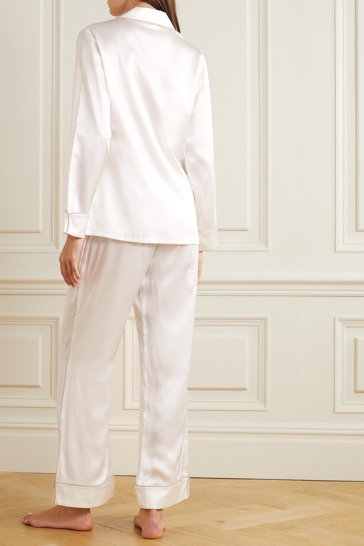 Olivia von Halle Coco Pyjama aus Seidensatin