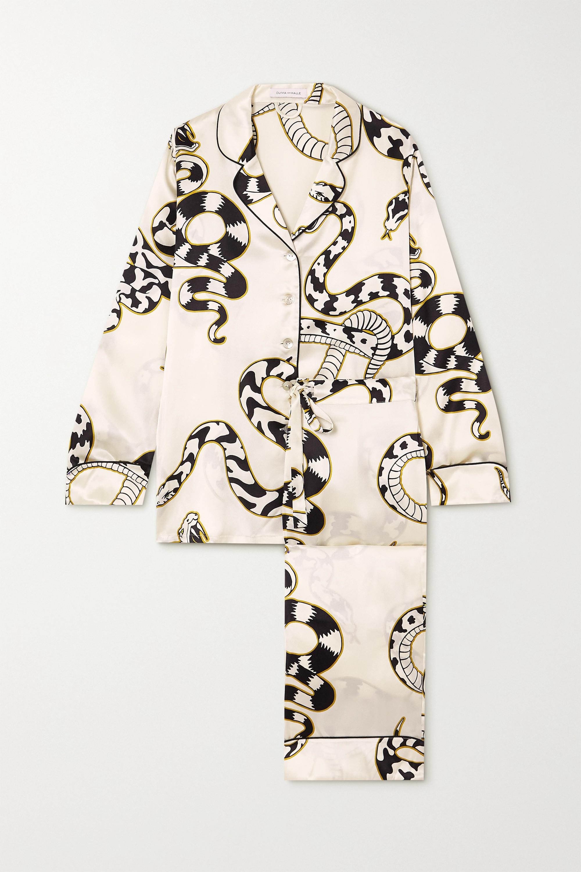 Printed Silk PJ Set
