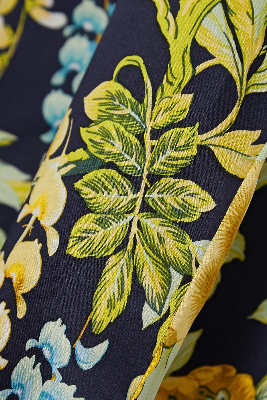 Olivia von Halle Lila floral-print silk-satin pajama set