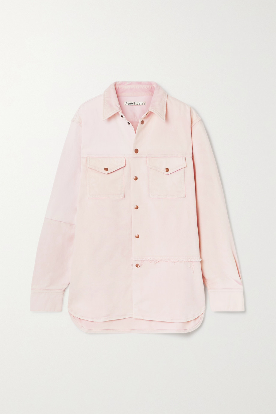 Acne Studios + NET SUSTAIN oversized organic denim jacket