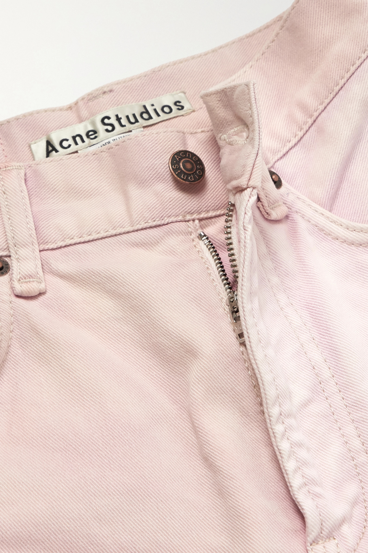 Acne Studios + NET SUSTAIN 1993 frayed patchwork organic high-rise straight-leg jeans