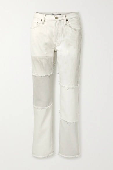 Acne Studios - Net Sustain 1997 Frayed Patchwork Organic High-rise Straight-leg Jeans