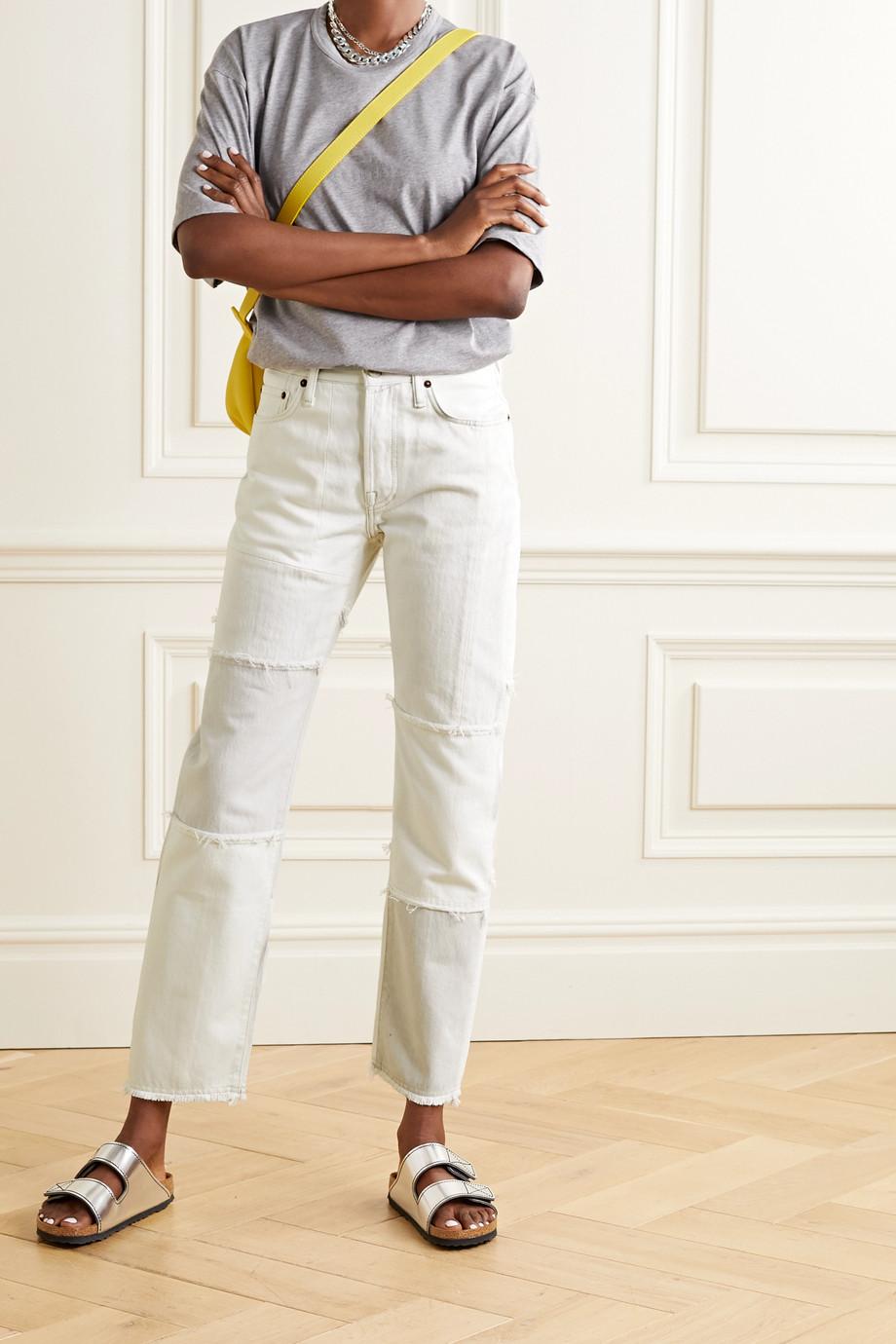 Acne Studios 【NET SUSTAIN】1997 磨边拼缝有机棉质高腰直筒牛仔裤