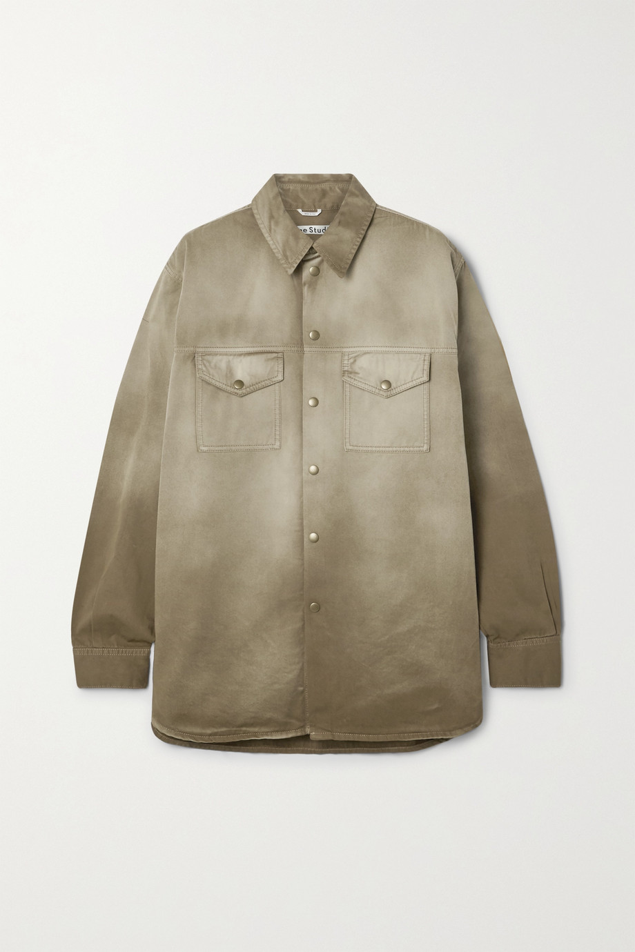 Acne Studios + NET SUSTAIN dégradé organic cotton-twill jacket