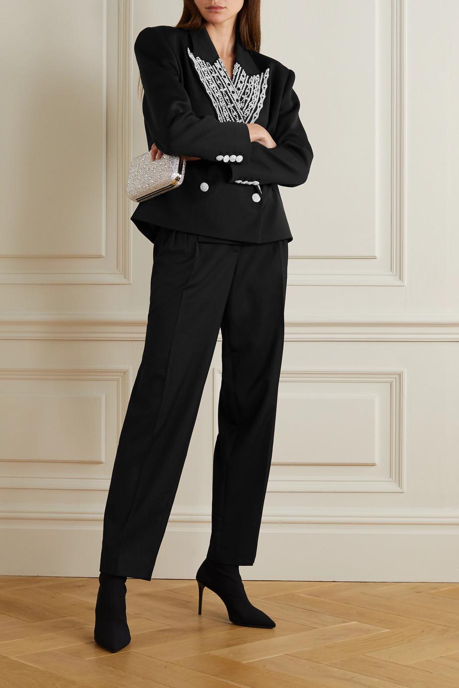 Magda Butrym Crystal-embellished wool blazer