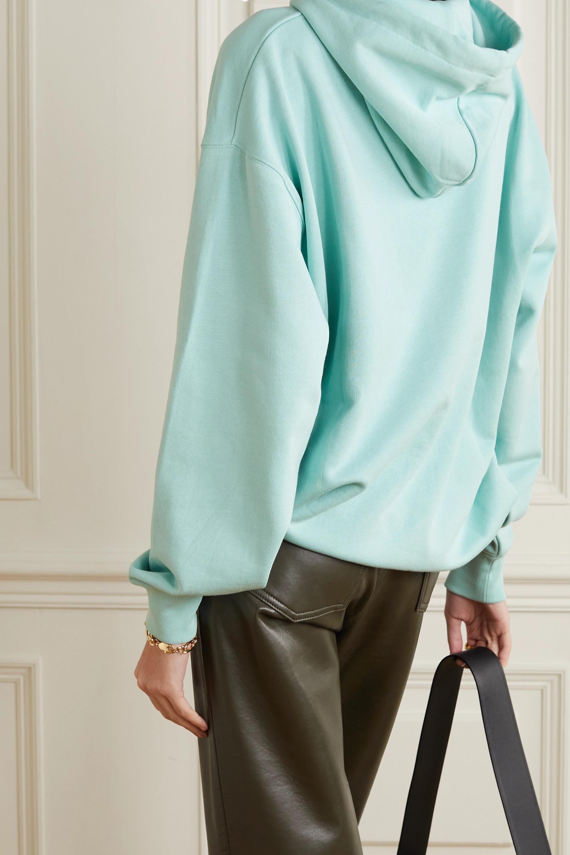 Acne Studios + NET SUSTAIN Farrin Face oversized appliquéd organic cotton-jersey hoodie