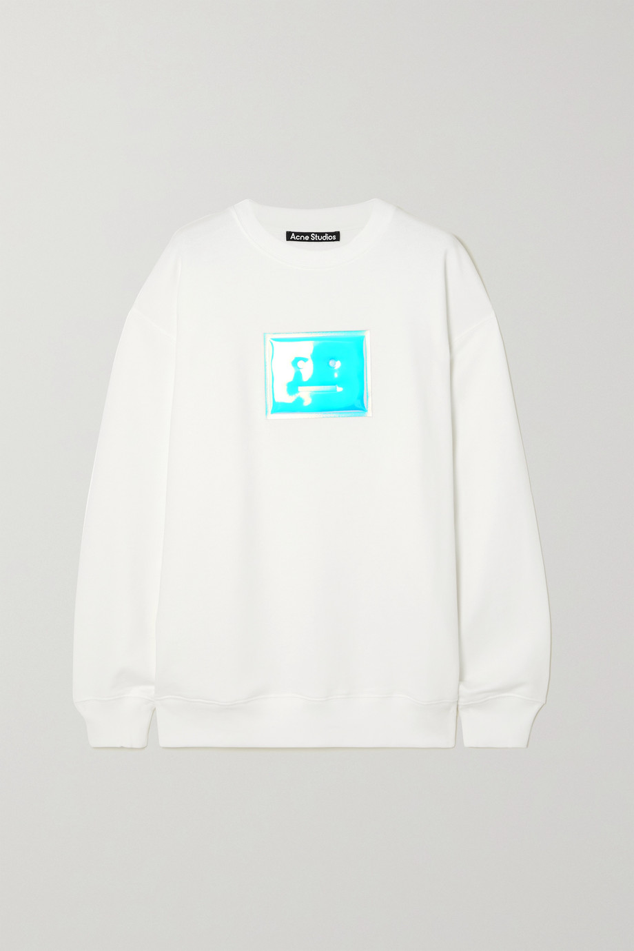 Acne Studios + NET SUSTAIN oversized appliquéd organic cotton-jersey sweatshirt