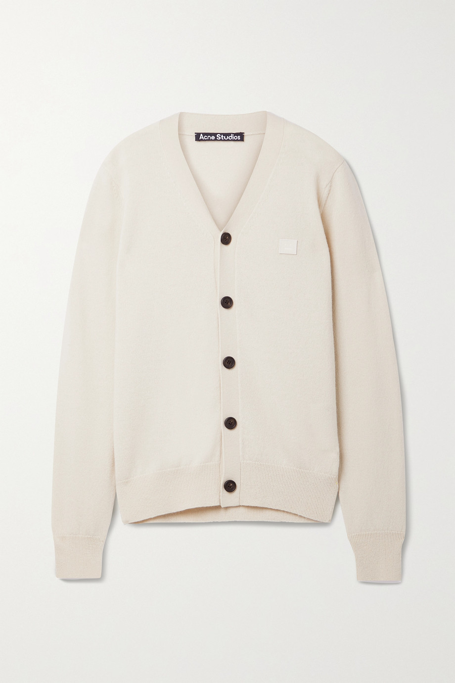 Acne Studios + NET SUSTAIN appliquéd wool cardigan