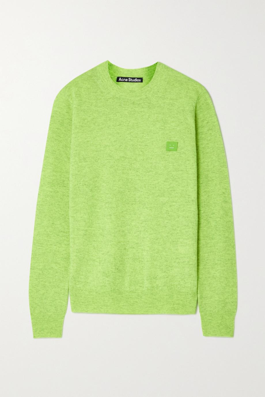 Acne Studios + NET SUSTAIN appliquéd neon wool sweater