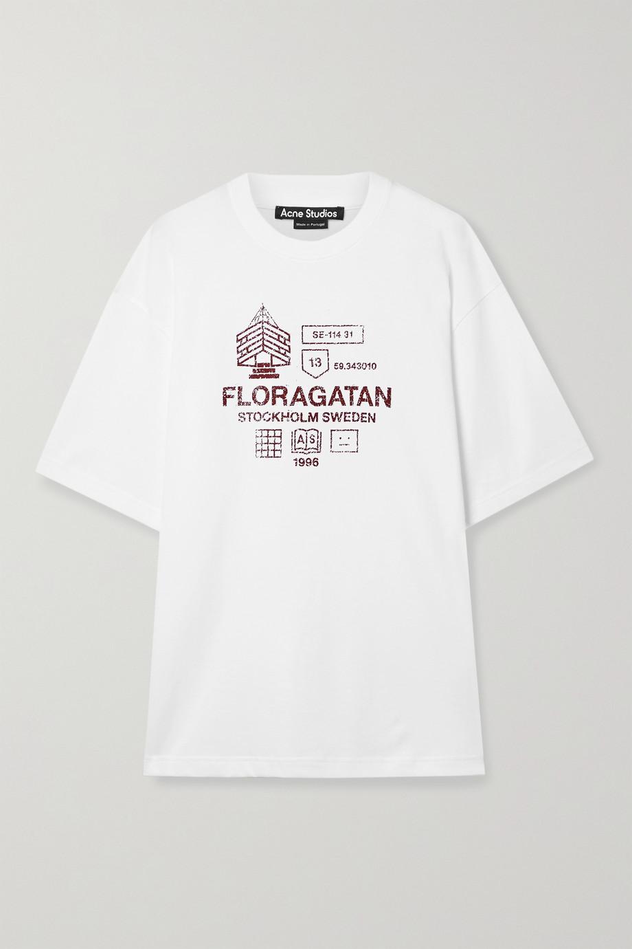 Acne Studios + NET SUSTAIN Oversized-T-Shirt aus Biobaumwoll-Jersey mit Print