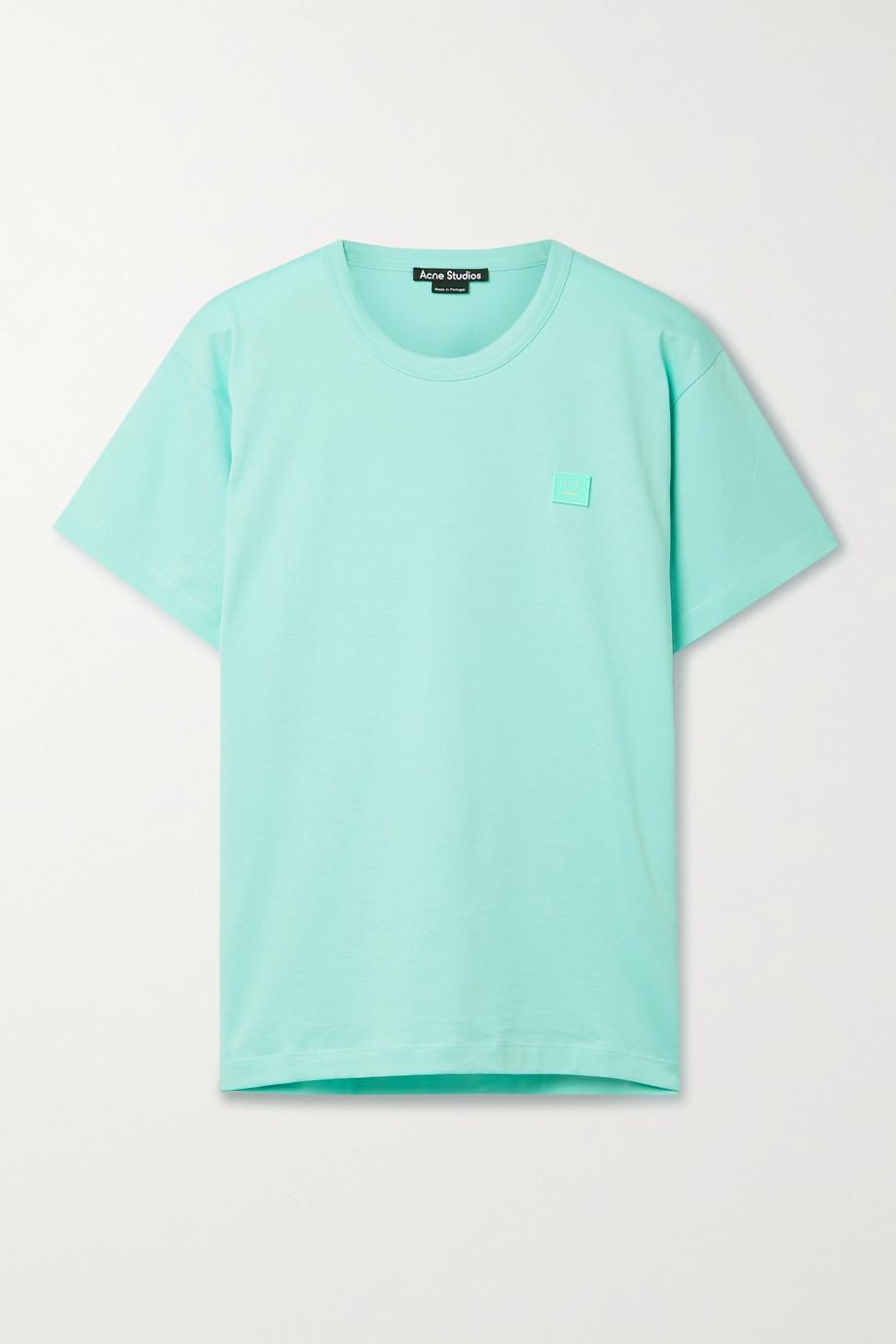 Acne Studios + NET SUSTAIN appliquéd organic cotton-jersey T-shirt
