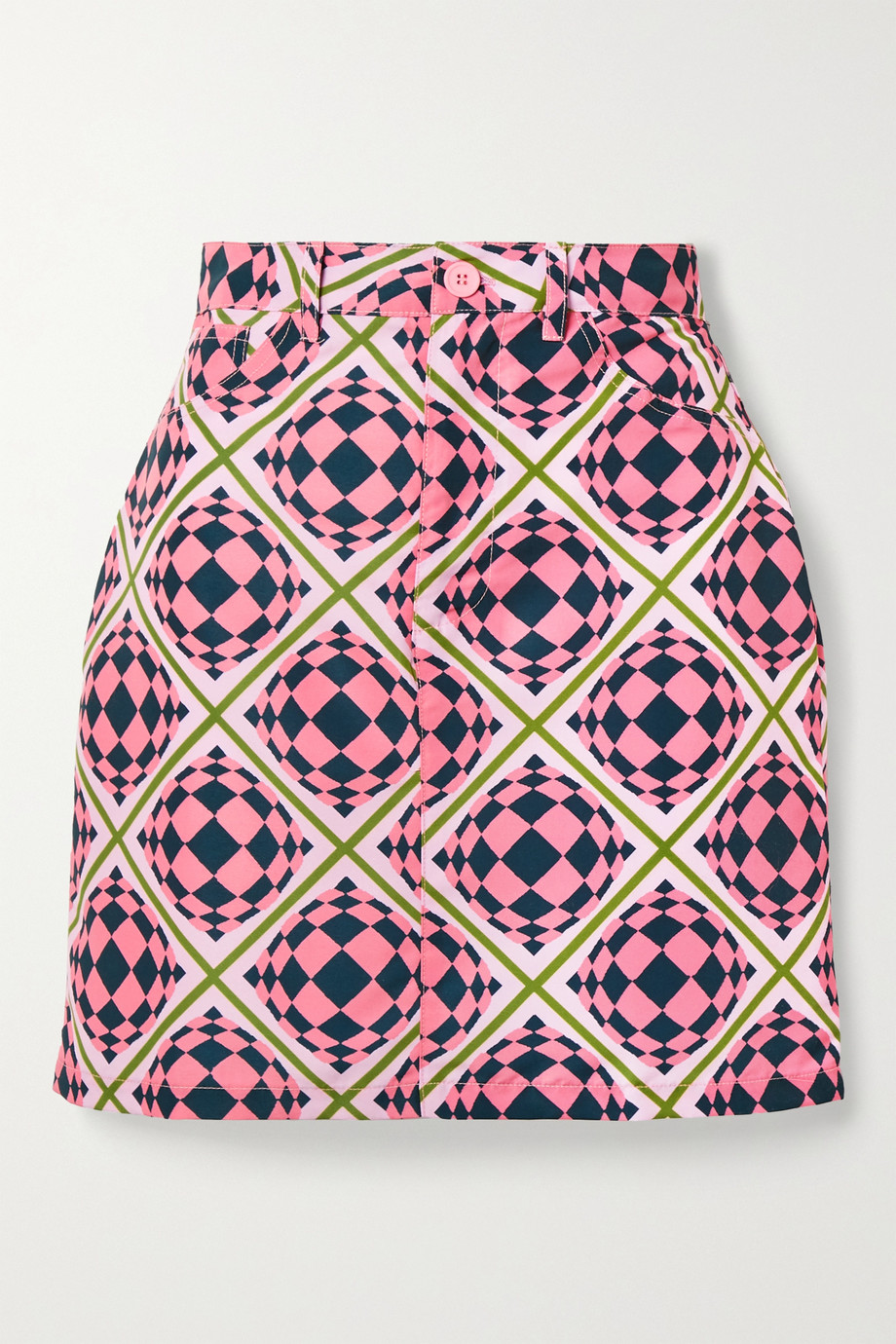 Maisie Wilen Primetime printed shell mini skirt