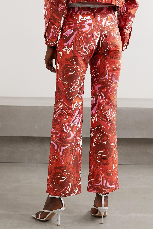 Maisie Wilen Jet printed shell straight-leg pants