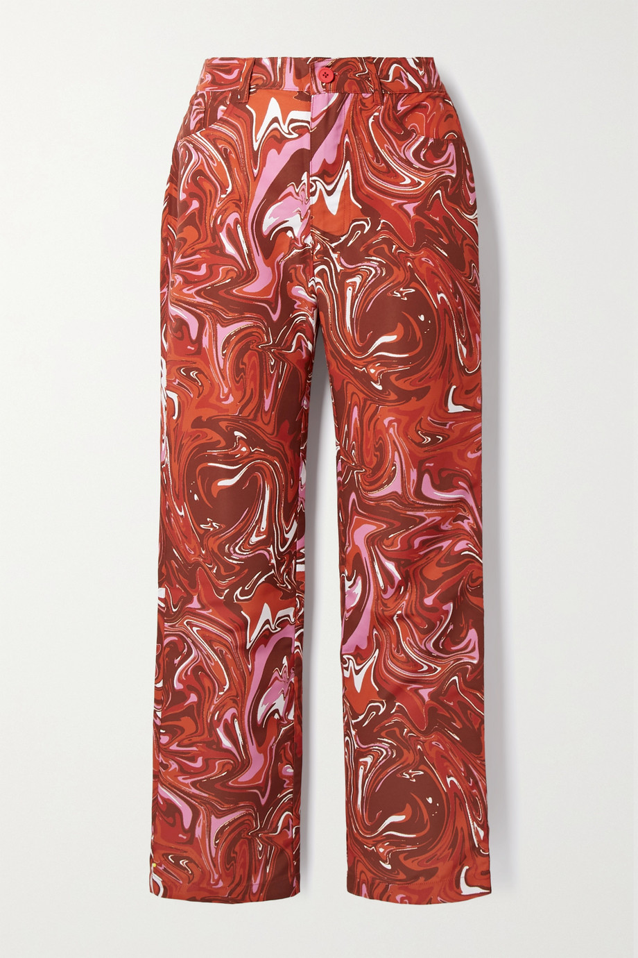 Maisie Wilen Jet printed shell straight-leg pants