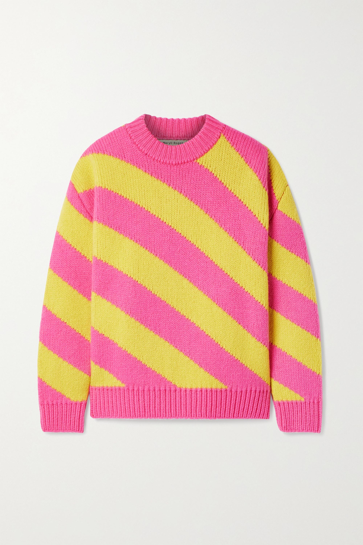 Meryll Rogge Oversized-Pullover aus Wolle mit Streifen