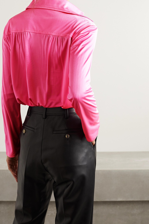 Meryll Rogge Neonfarbenes Hemd aus glänzendem Jersey