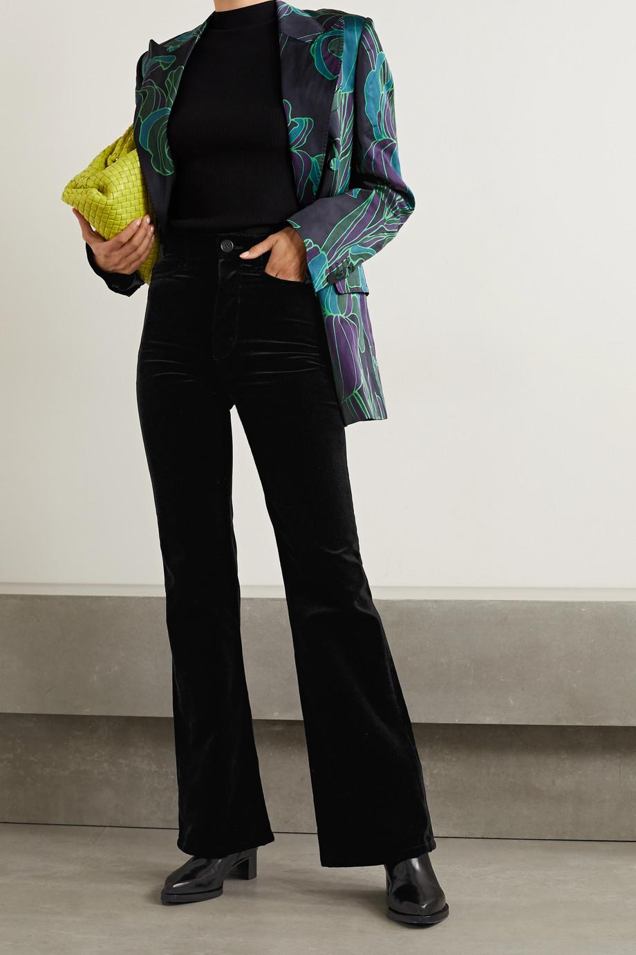 Meryll Rogge Cotton-velvet flared pants