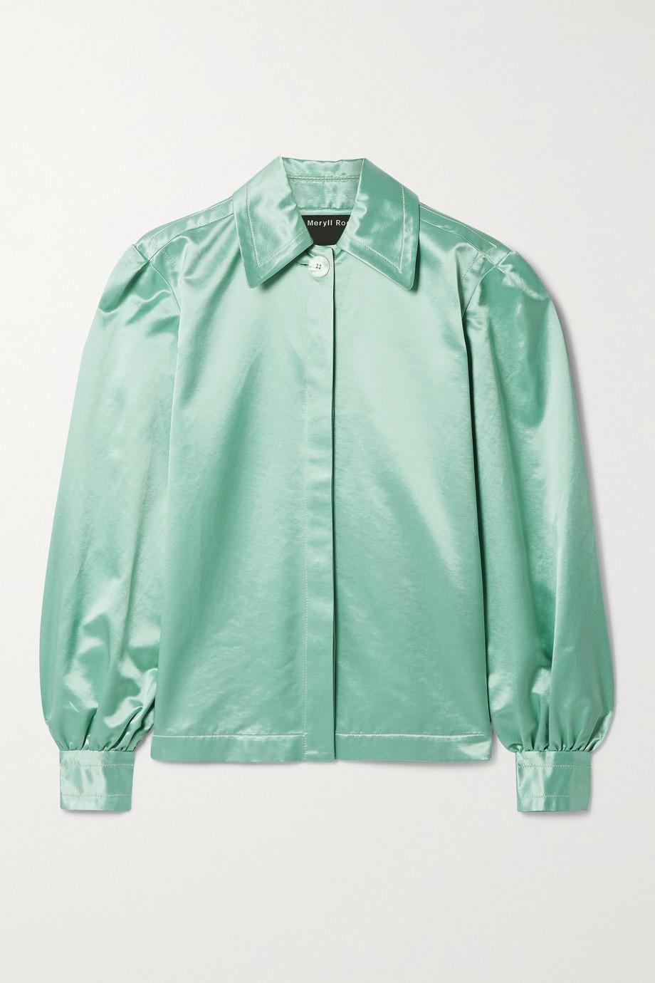 Meryll Rogge Cotton-blend satin shirt