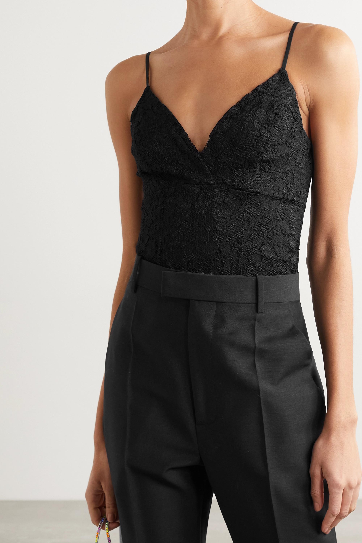 L'Agence Laurette lace and stretch-jersey bodysuit