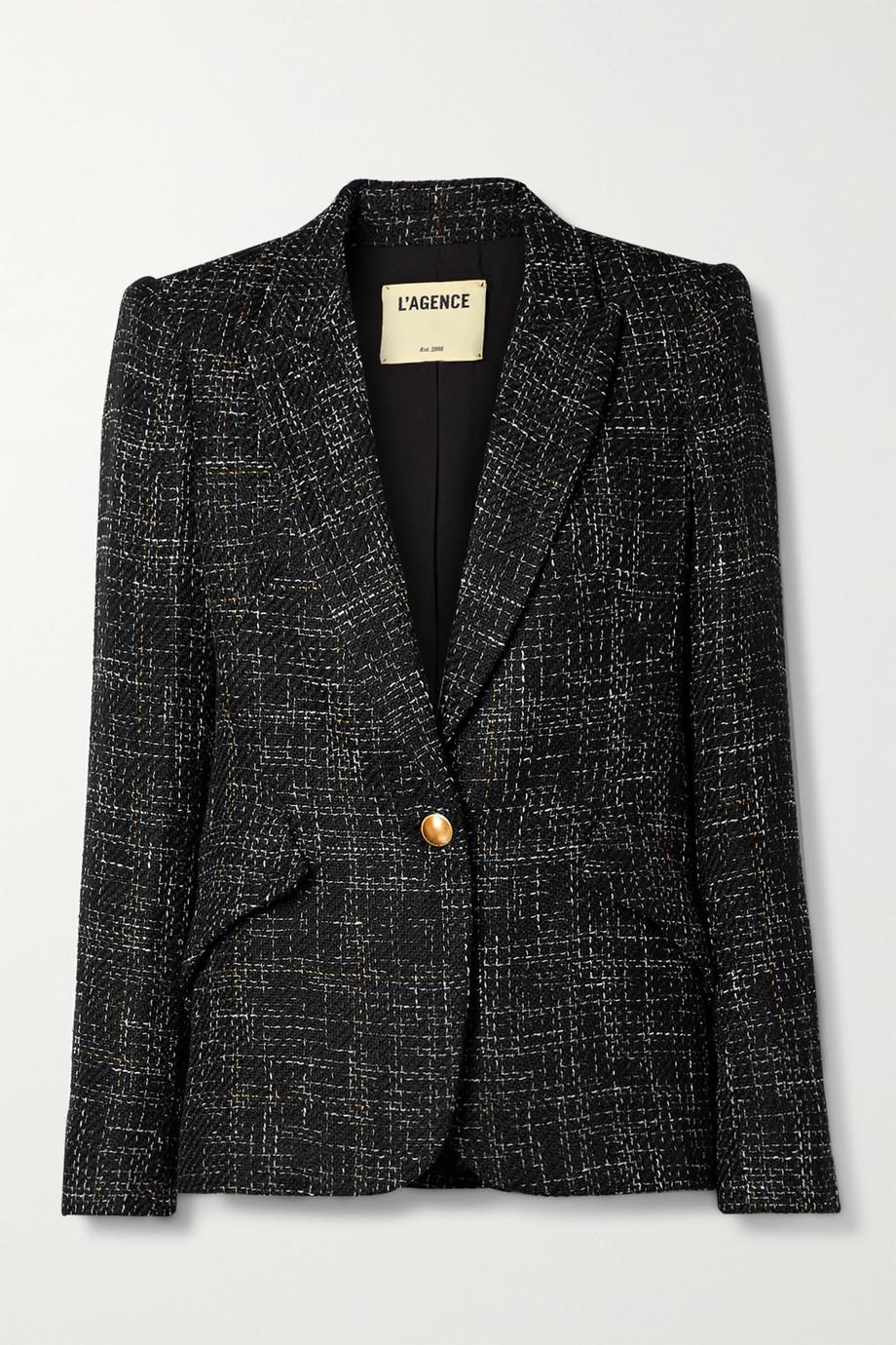 L'Agence Chamberlain checked tweed blazer