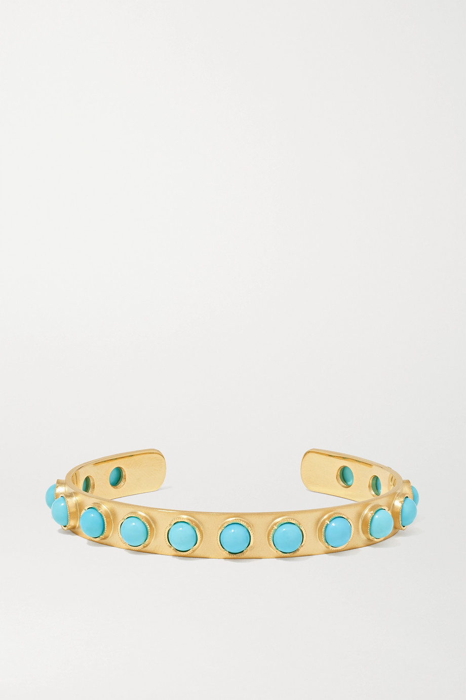 Irene Neuwirth Classic 18-karat gold turquoise cuff